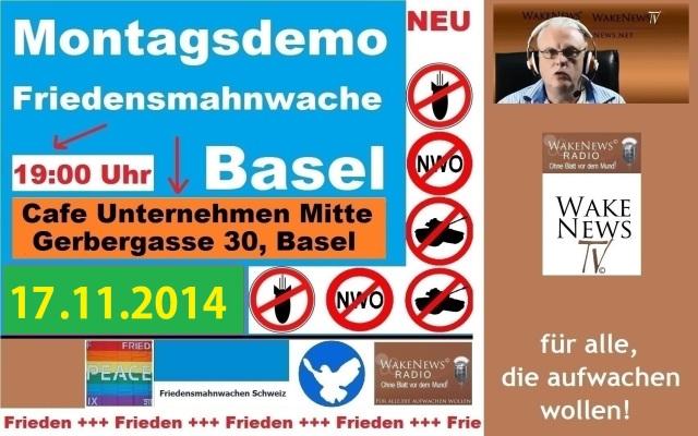 17.11.2014 Friedensmahnwache Basel Unternehmen Mitte