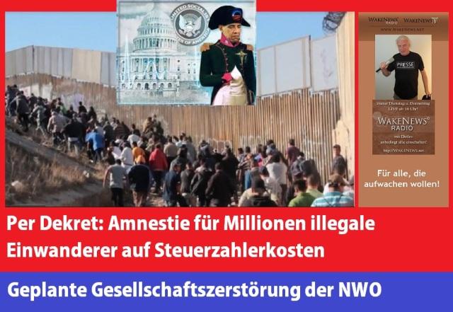 Amnestie für Millionen illegale Einwanderer