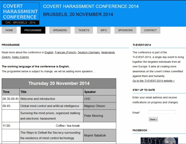 Covert Harassment Conference Brussels