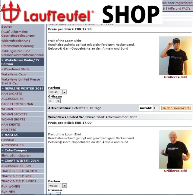 Laufteufel-Shop Index T-Shirts