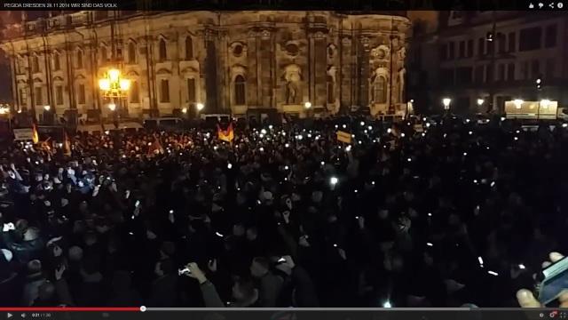 Pegida Demo Dresden 24.11.2014