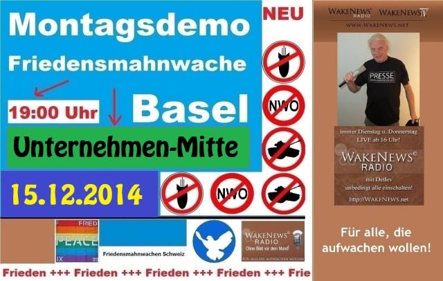 15.12.2014 Friedensmahnwache Basel Unternehmen-Mitte