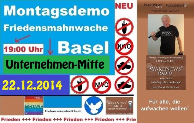 22.12.2014 Friedensmahnwache Basel Unternehmen-Mitte