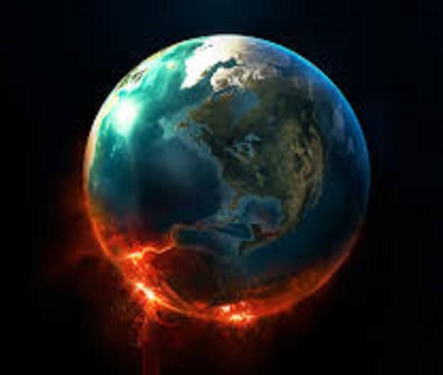 Erde in Flammen