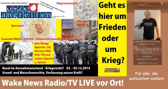 OSZE Basel - Wake News LIVE vor Ort