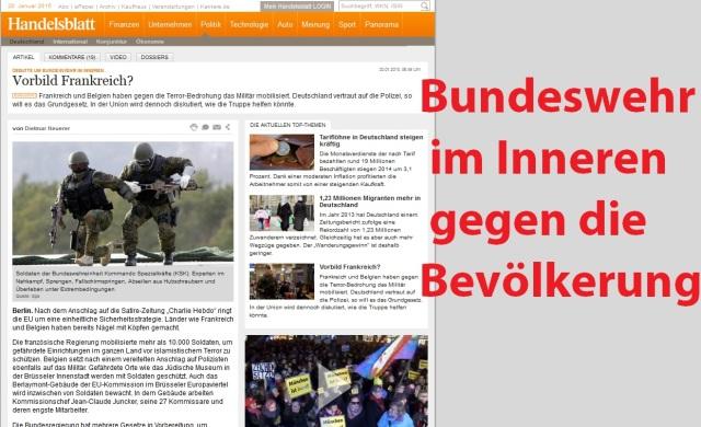 Bundeswehr im Inneren gegen die Bevölkerung