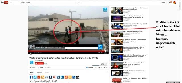 Charlie Hebdo Schusssichere Weste Dach 2. Mann