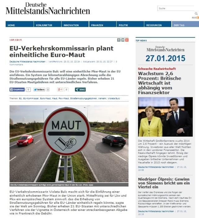 EU-Maut - Tyrannei