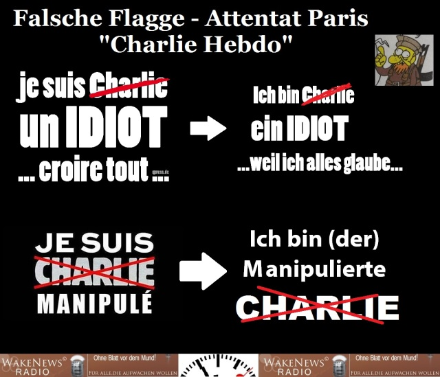 Falsche Flagge Attentat Charlie Hebdo Paris