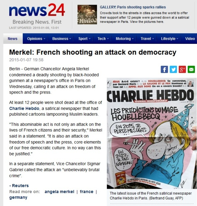 news 24 screenshot hebdo
