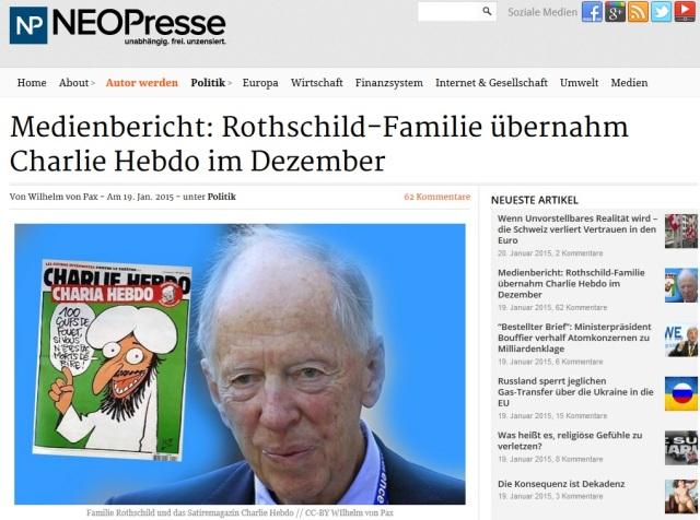 Rotschild übernahm Charlie Hebdo