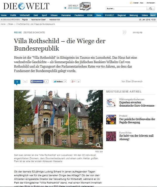 Villa Rothschild - Die Wiege der Bundesrepublik