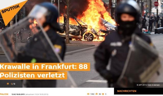 88 verletzte POLIZISTEN FFM
