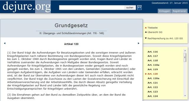 Art. 120 GG Besatzungskosten