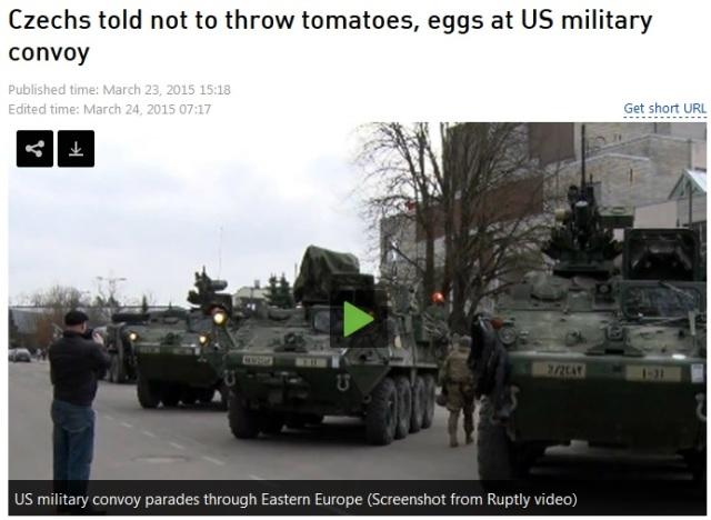 Tschechen mit Knast bedroht wenn sie Tomaten und Eier auf US-Besatzer schmeissen