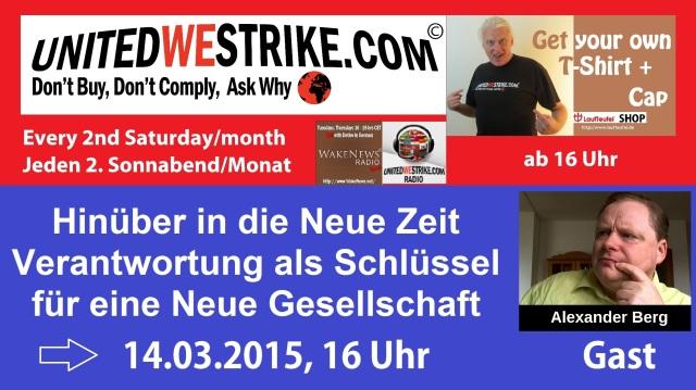 Unitedwestrike Radio-Marathon Hinueber in die Neue Zeit 20150314