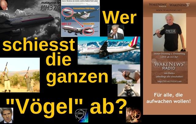 Wer schiesst die ganzen Vögel ab - Germanwings Frankreich