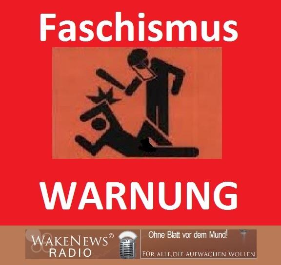 Faschismus Warnung m. Logo