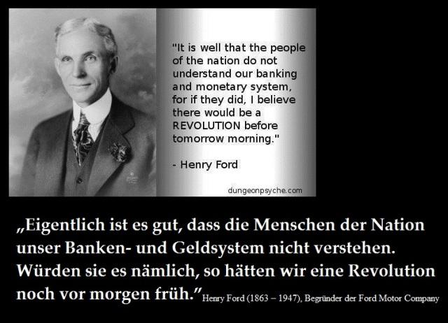 Henry Ford Revolution Geldsystem