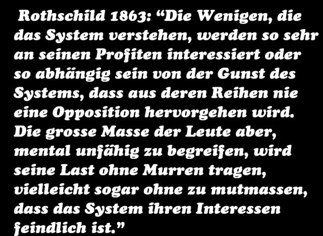 Rothschild 1863 Die Wenigen