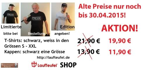 WN Presse Shirts + Kappen neue Preise Aktion 30.04.2015