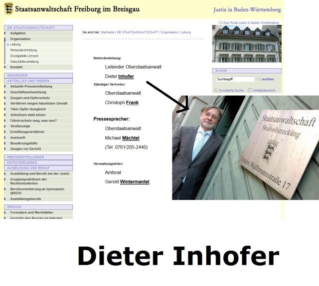 Dieter Inhofer STAATSANWALTSCHAFT FREIBURG