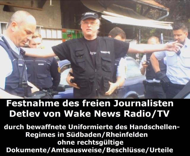 Festnahme des freien Journalisten Detlev durch bewaffnete Uniformierte 27.04.2015 Bild 1