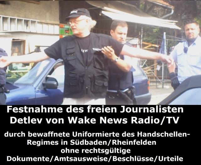 Festnahme des freien Journalisten Detlev durch bewaffnete Uniformierte 27.04.2015 Bild 2