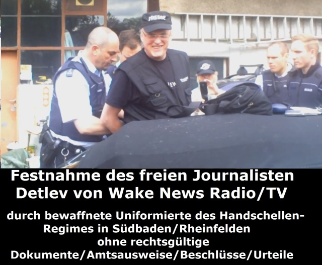 Festnahme des freien Journalisten Detlev durch bewaffnete Uniformierte 27.04.2015 Bild 4