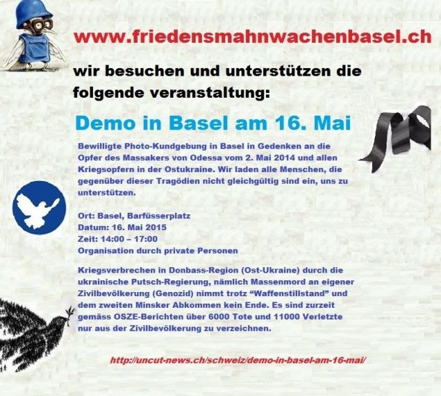 Friedensdemo Basel 16.05.2015 14 - 17 Uhr, Barfi