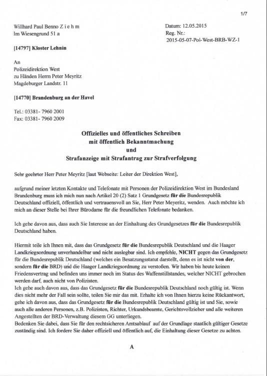 Offenkundigkeit der Verbrechen an Menschen in BriD + Bund