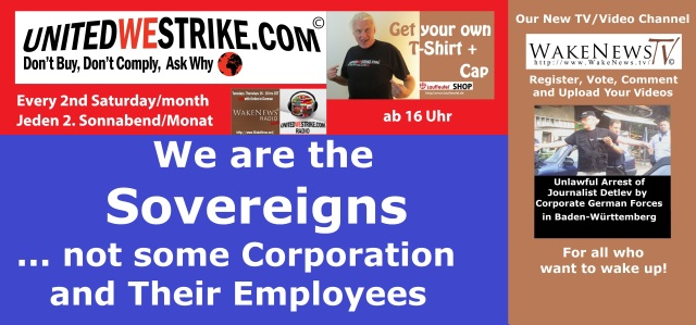We are the Sovereigns - not some Corporations and their employees