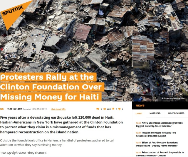 Clinton Foundation Haiti Funds Missing