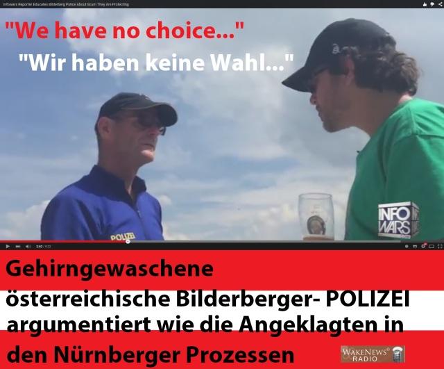 Gehirngewaschene Bilderberger-POLIZEI in Österreich