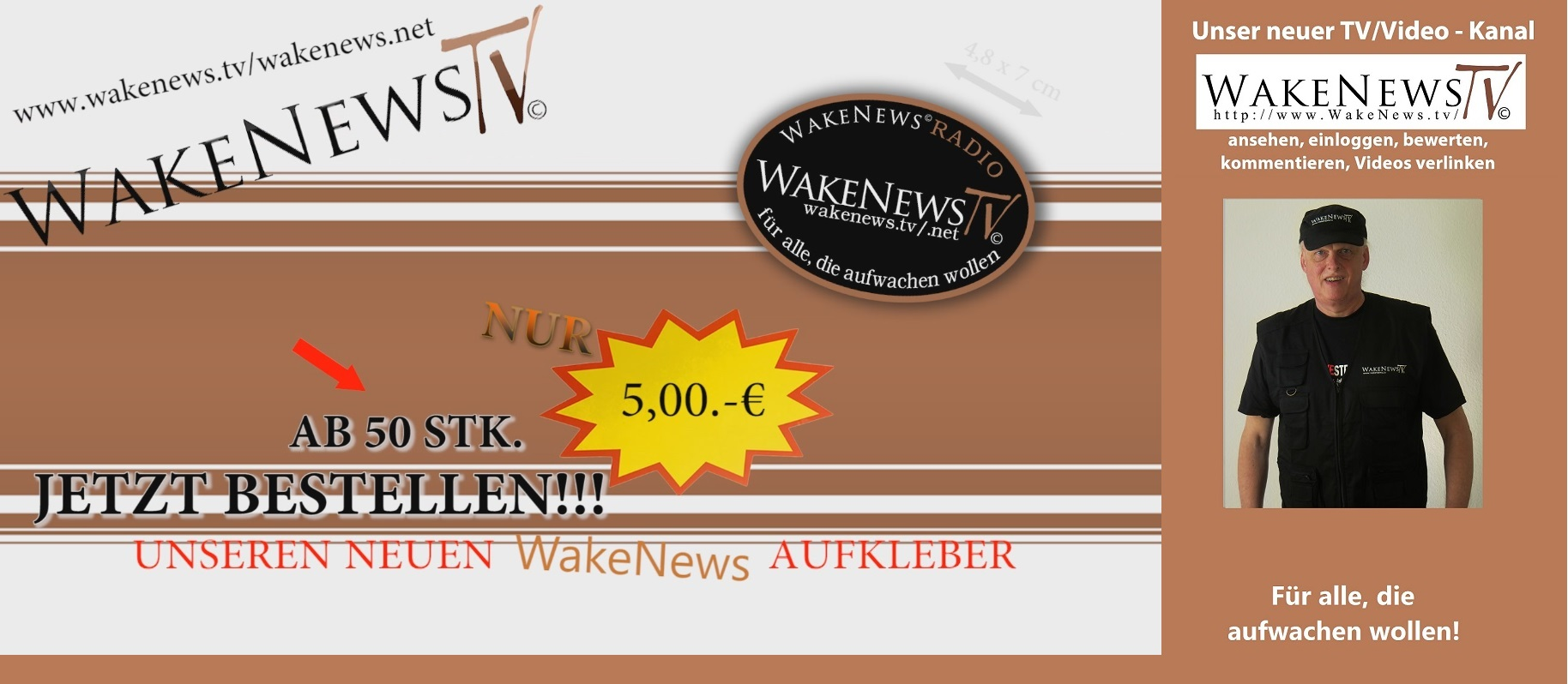 neuer wake news sticker ab sofort mywakenews 39 s blog. Black Bedroom Furniture Sets. Home Design Ideas