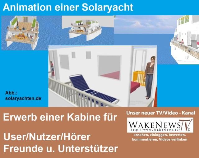 Animation einer Solaryacht