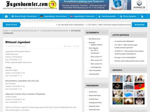 Jugendamt Wittmund Screenshot