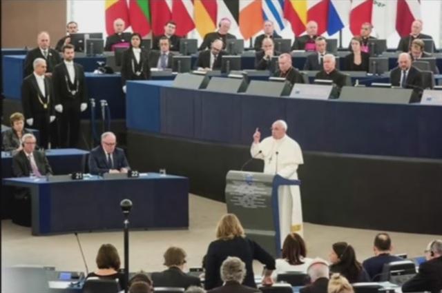 Papst-Ansprache EU