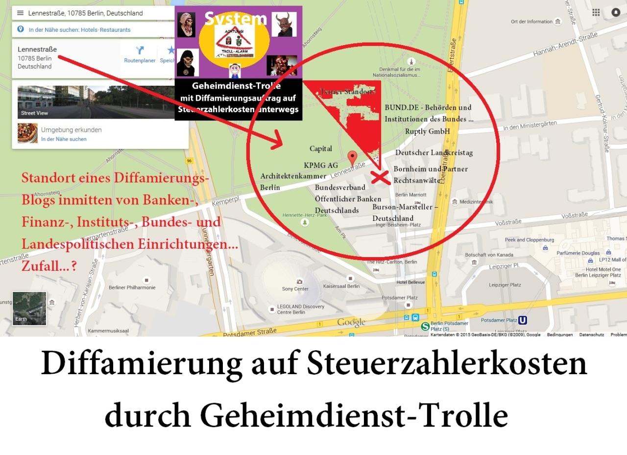 Standort eines Diffamierungs-Blogs in Berlin