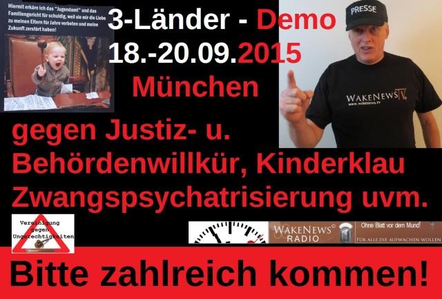 3-Länderdemo München 18.-20.09.2015