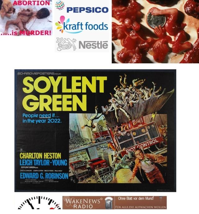 Babyteile in Nahrungsmitteln - Soylent Green