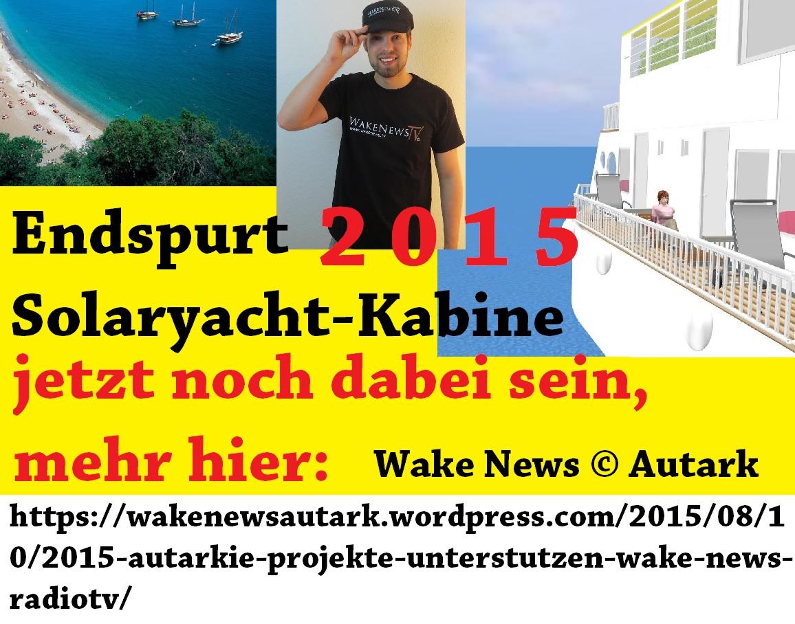 Endspurt 2015 Wake News Solaryacht-Kabine