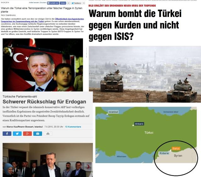Türkei Bombardierung gegen PKK, Kurden in Syrien