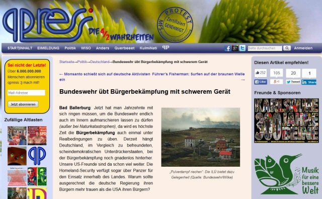 Bundeswehr übt mit schwerem Gerät - Bad Ballerburg
