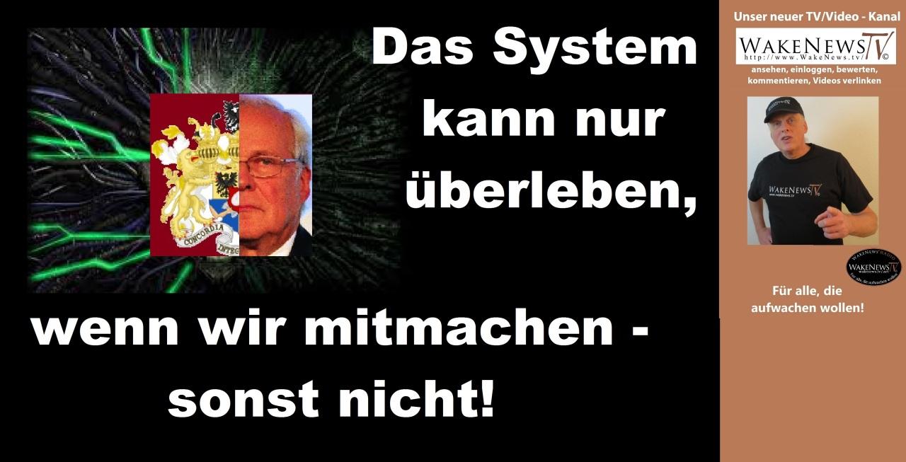Das System kann nur überleben, wenn wir mitmachen - sonst nicht