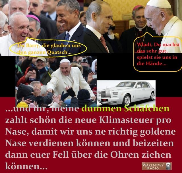 Der Papst, Obama, Putin und die dummen Schäfchen