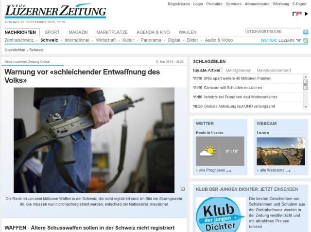 Schleichende Entwaffnung der Schweiz