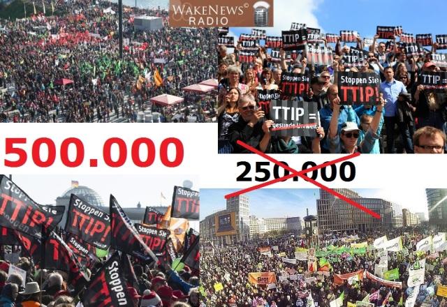 500.000 Demonstranten in Berlin