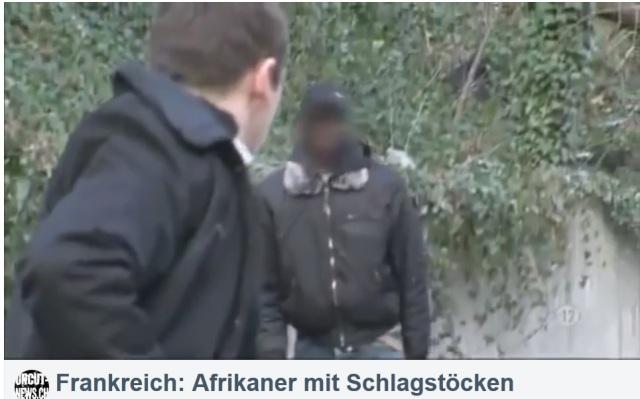 Afrikaner mit Schlagstöcken in Frankreich gegen Weisse