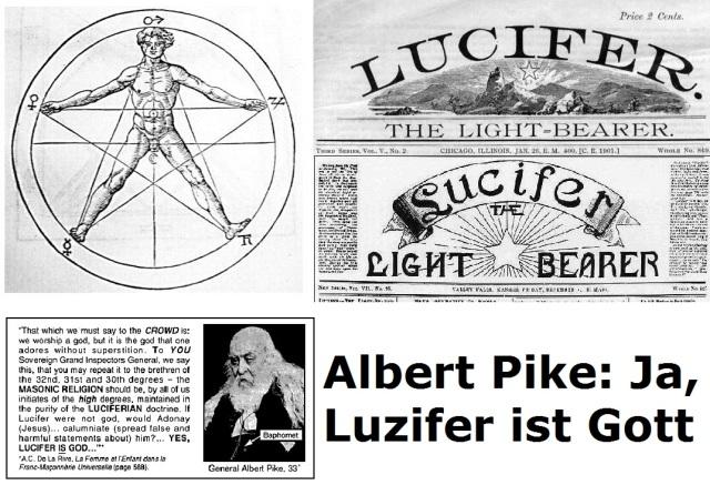 Albert Pike - Ja, Luzifer ist Gott